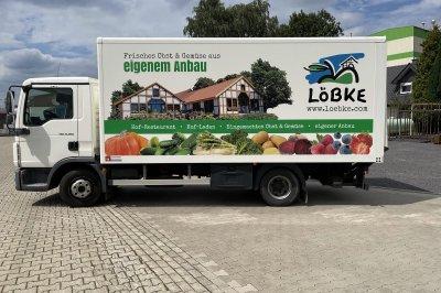 Neue Fahrzeugbeschriftung Hof Löbke Ibbenbüren